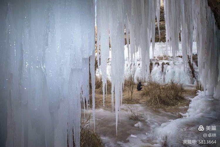 与弯镰沟冰瀑的不期而遇――2021年1月6日摄