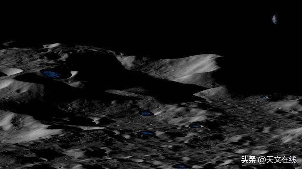 月球和水星上的浅坑可能隐藏着厚冰层