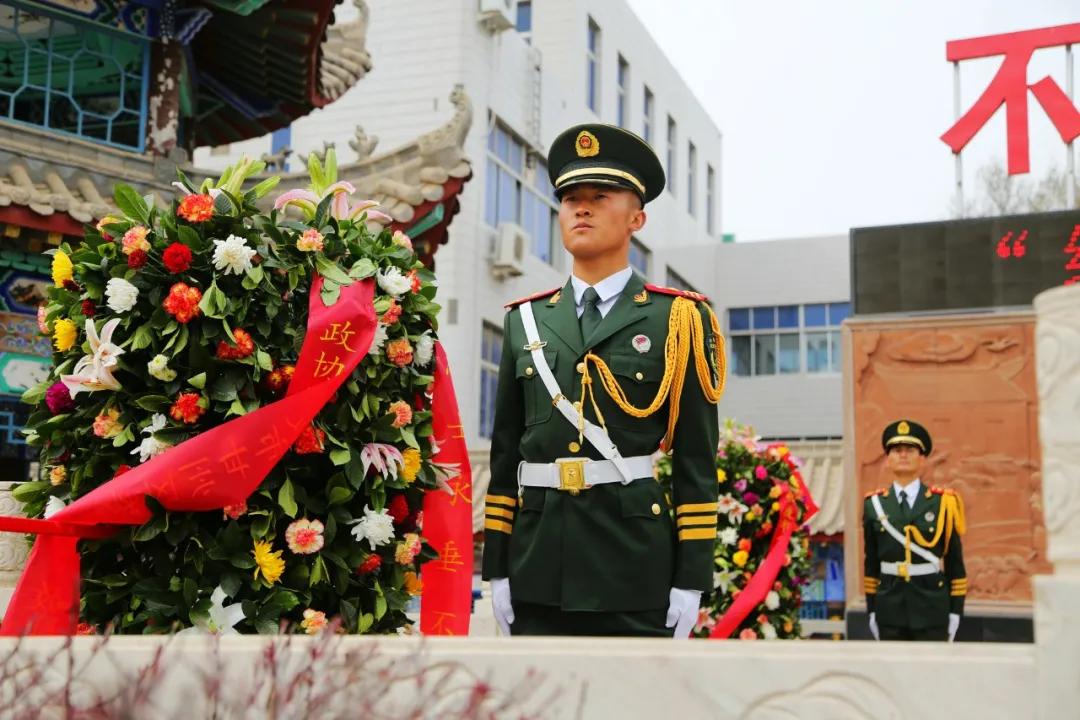 武警<a href=http://www.cngansu.cn/ target=_blank class=infotextkey>甘肃</a>总队张掖支队:清明・祭丨在烈士纪念馆开展红色主题党日