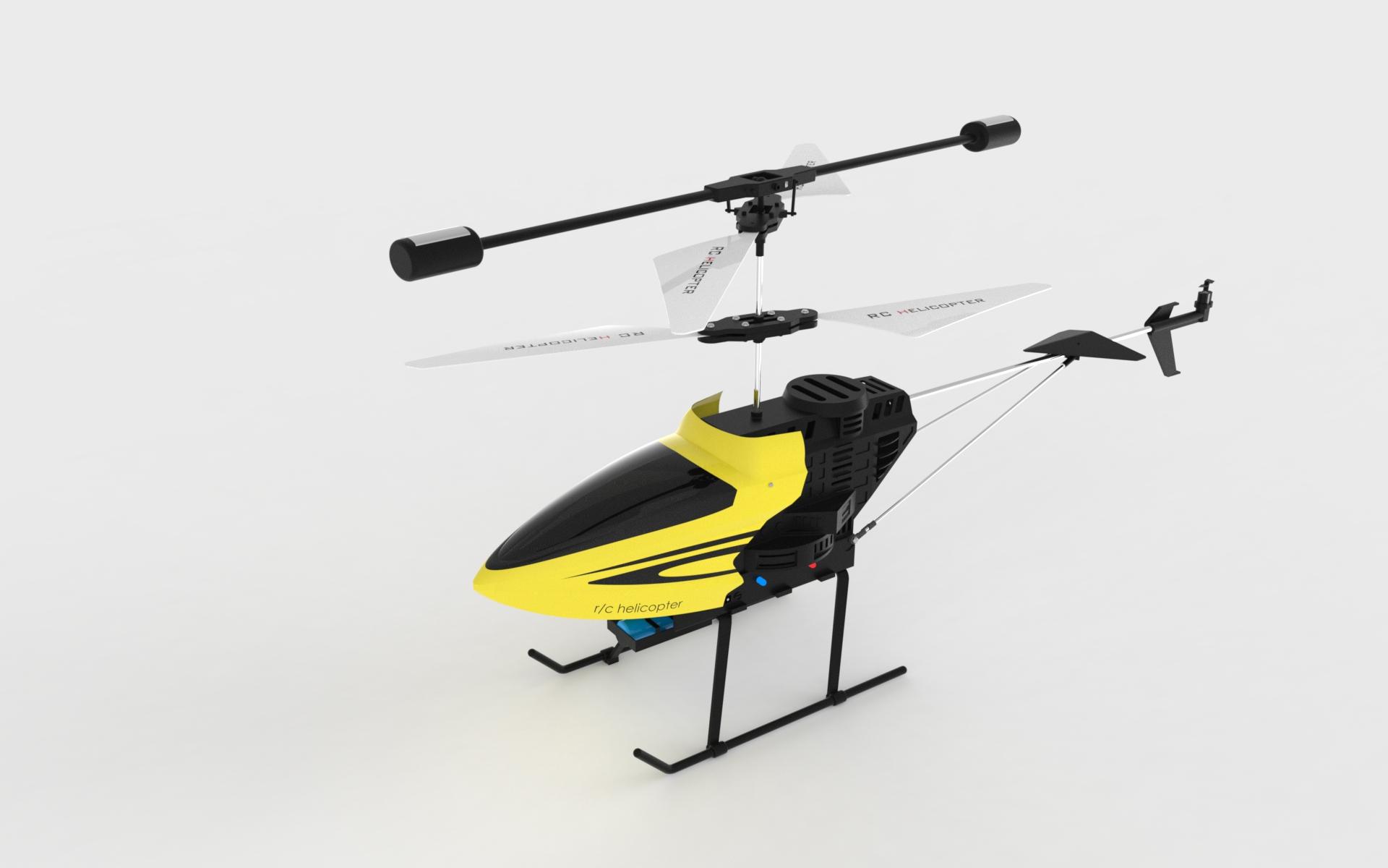 rc helicopter 37遥控直升机玩具模型3D图纸 Solidworks设计