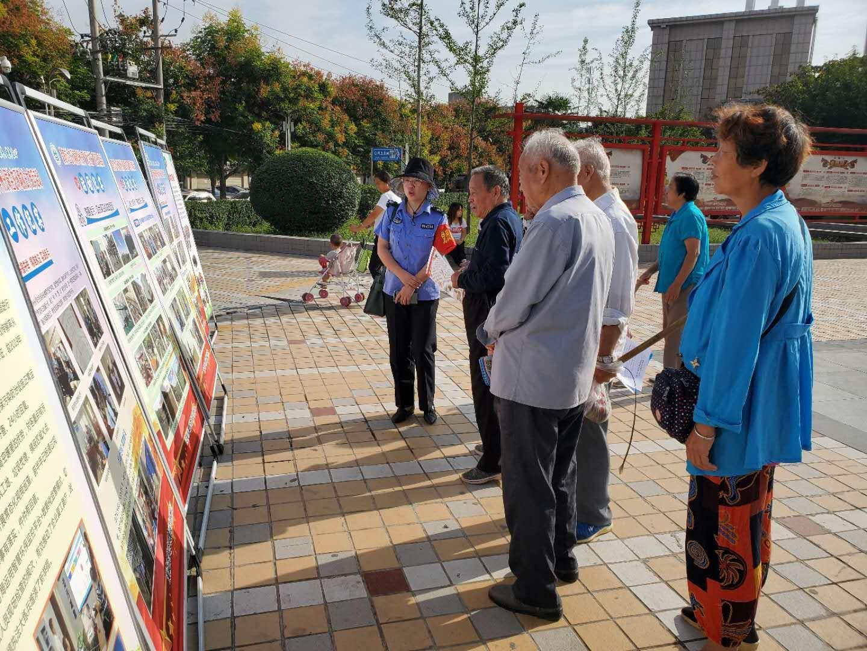 华州分局开展创建全国文明城市测评期间宣传教育活动(图)