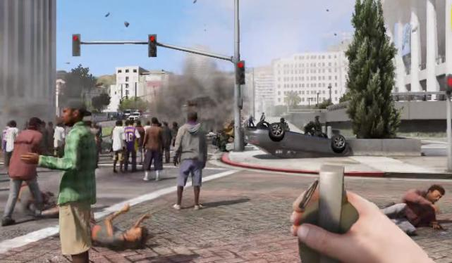 "《GTA5》每个玩家都干过的事情,人群中丢""一颗""进去会怎样"