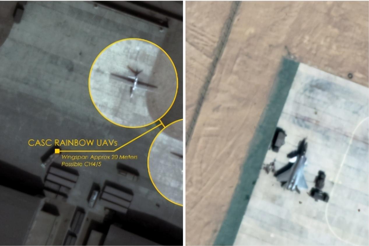 印媒:卫星图像显示中国曾将无人机、歼-20转移到列城北部基地