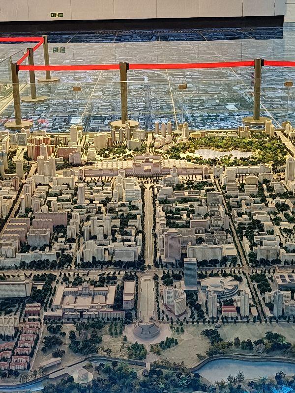 带你参观北京市城区大型立体沙盘模型