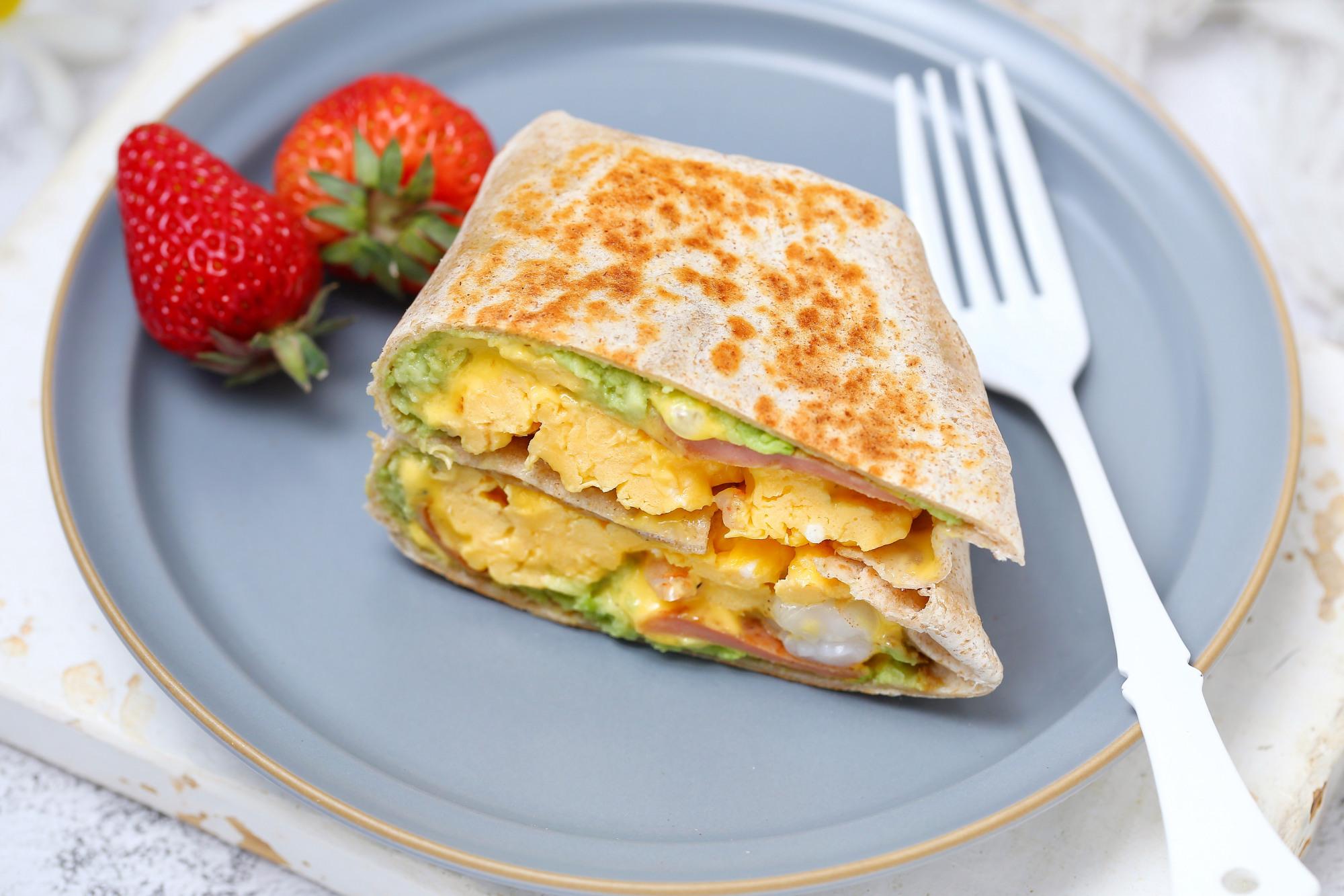 连吃一周也不腻的早餐饼,有虾有蛋营养均衡,简单快手十分钟上桌 美食做法 第12张