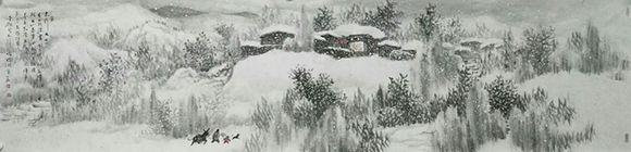 画家赵金鸰 墨色交融 笔法柔韧规矩
