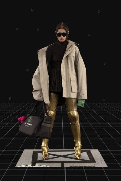 巴黎世家Balenciaga2021秋季时装,必须酷酷的感觉