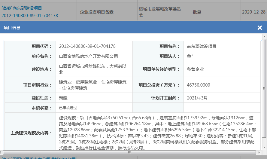运城房产动态(2020.12.28--2021.1.3)