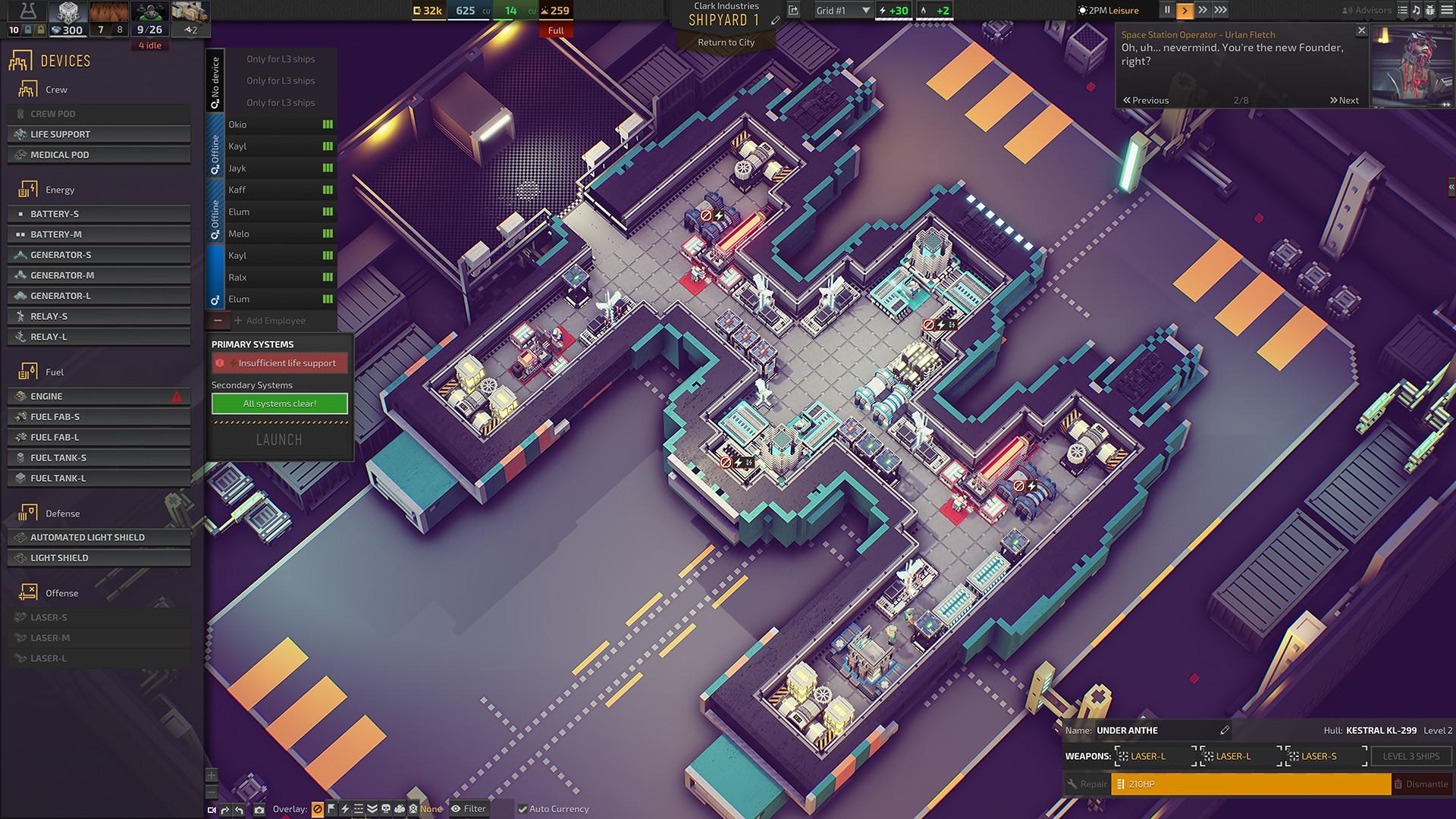 一款赛博朋克风的城市沙盒建造游戏