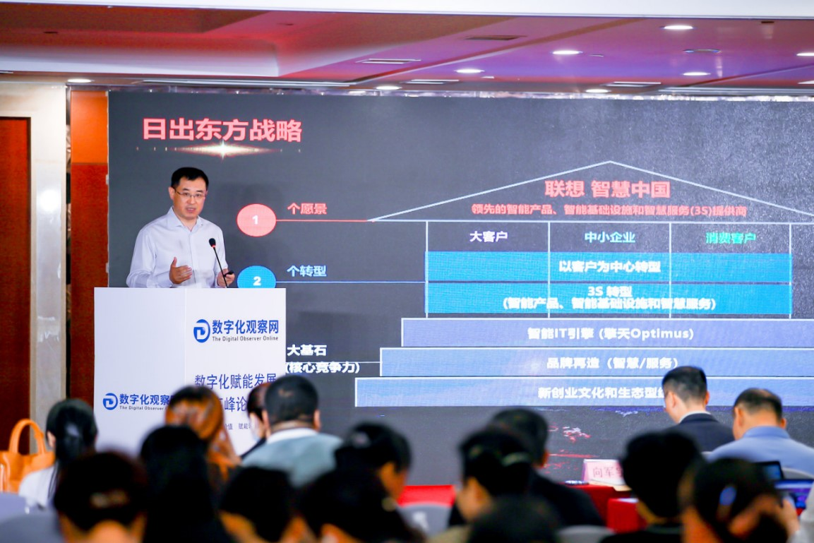数字赋能新范式联想FAST光速引擎闪耀天津数字化赋能发展高峰论坛