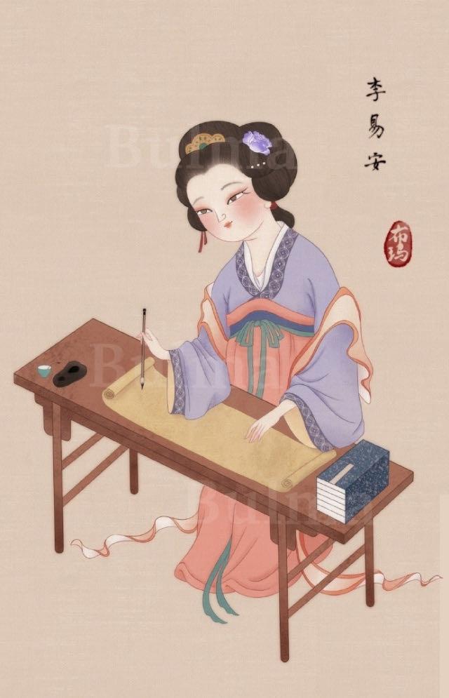 八幅手绘古代美人图,从发型妆容到服饰,带你领略东方古典之美