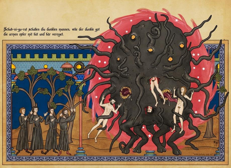"""克苏鲁神话外神:""""森之黑山羊""""莎布·尼古拉丝"""