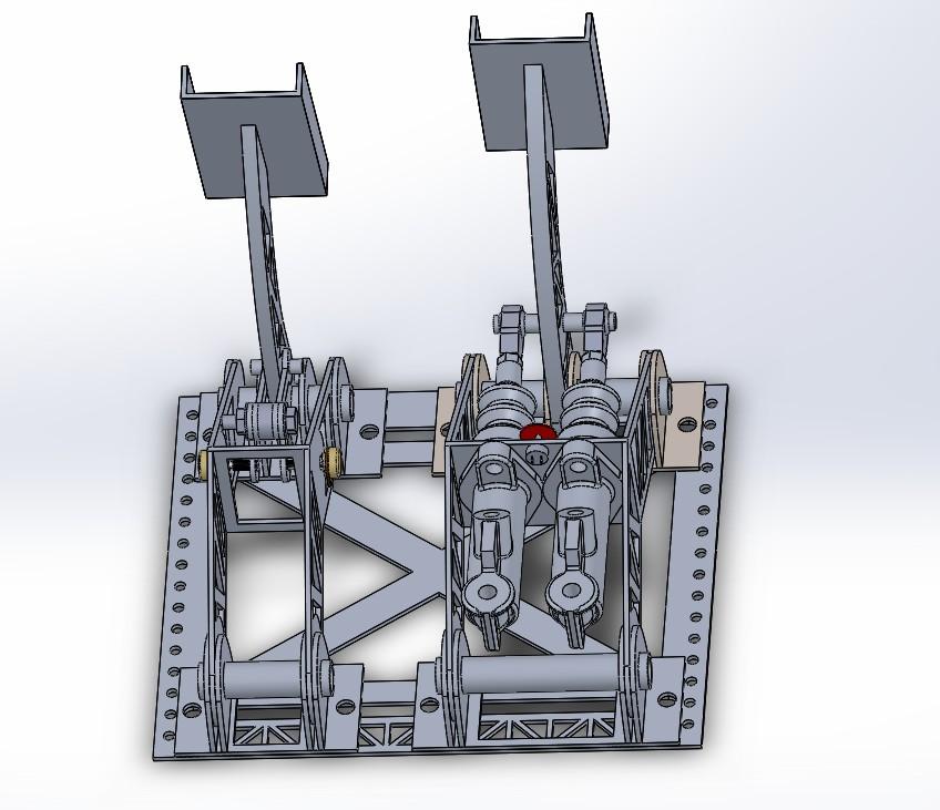 fsae踏板油门结构3D图纸 Solidworks设计