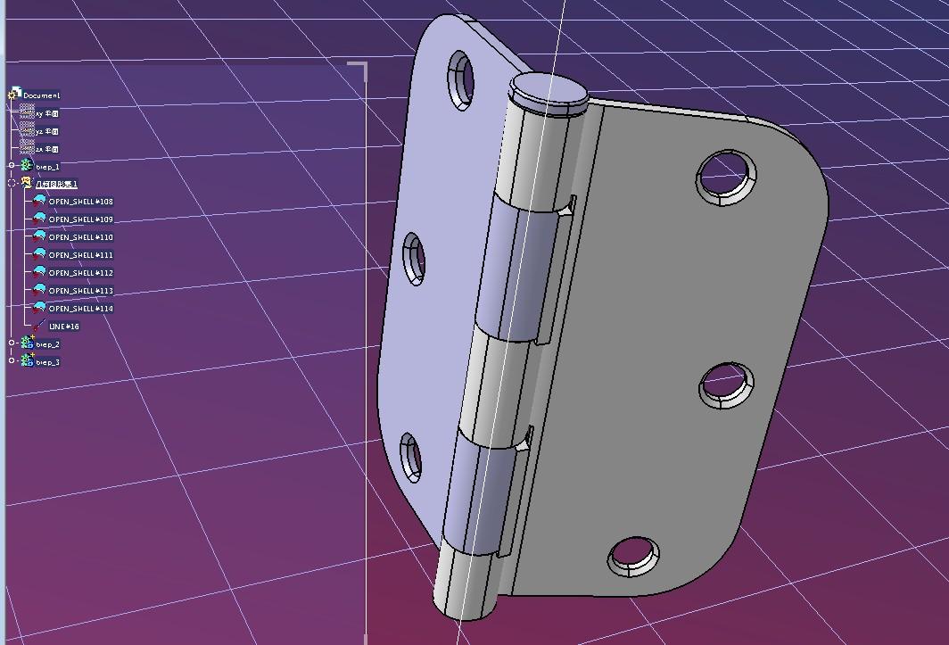 OnWard Rona铰链模型3D图纸 STP格式