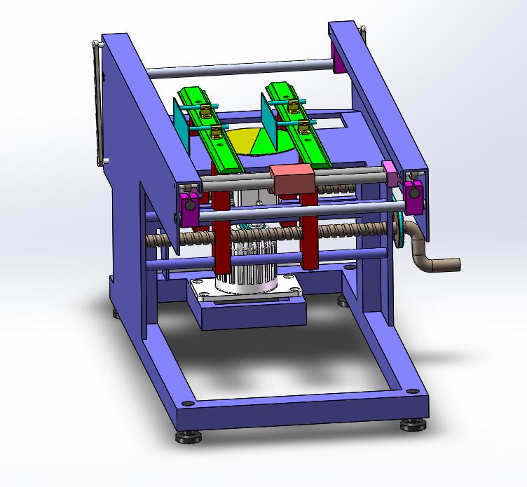 切割机机构3D图纸 Solidworks设计