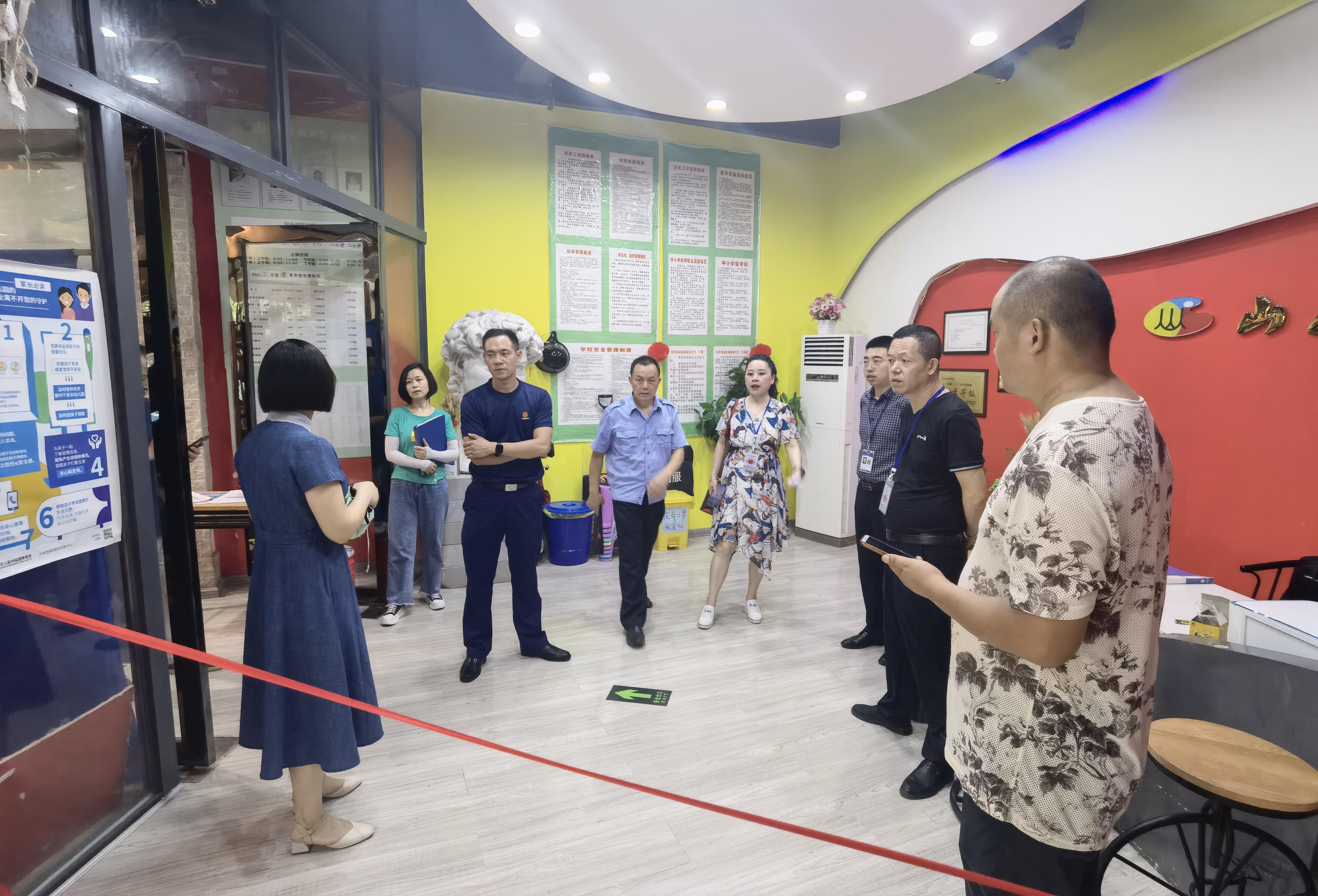蓬溪:联合开展城区校外培训机构检查