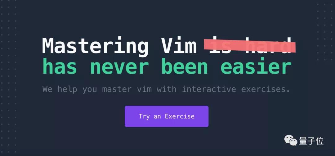 """边打""""游戏""""边学Vim!这款在线、交互的练习工具火了"""