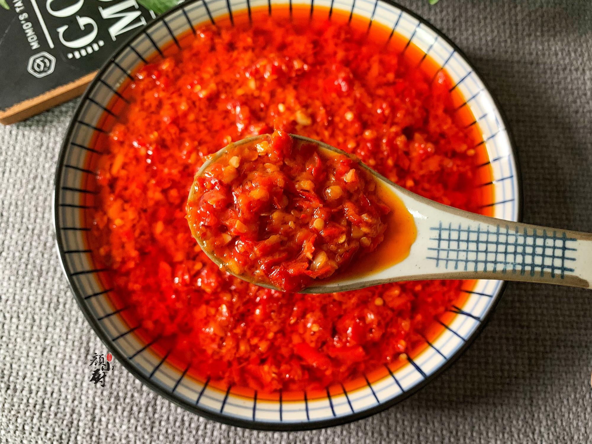 1分鐘學會蒜蓉辣椒醬的做法,做法簡單,香辣美味,快收藏