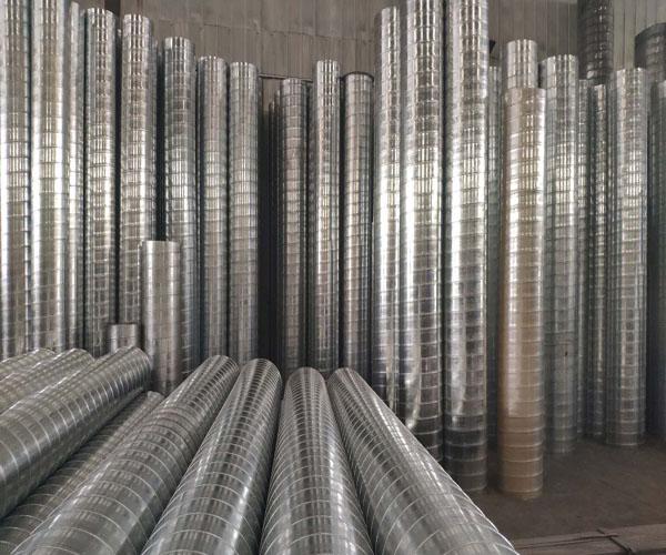 供应白铁通风管中央空调管道双层保温螺旋风管