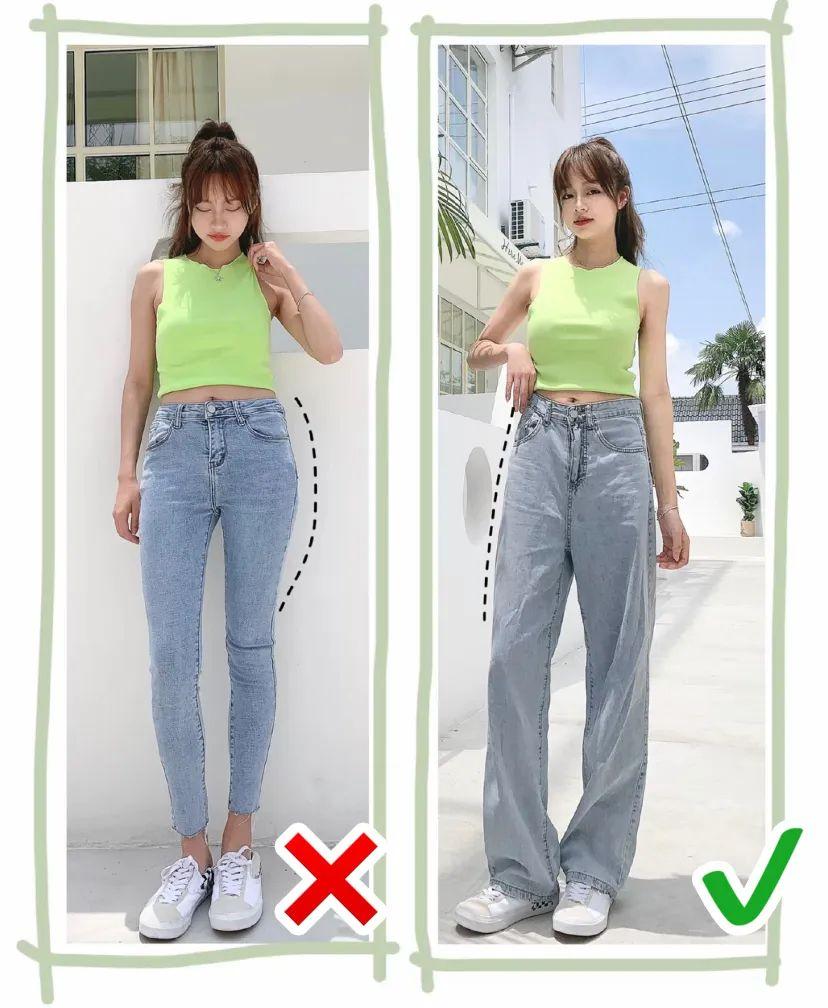 短上衣+阔腿裤=王炸组合!炎天穿显瘦又显高