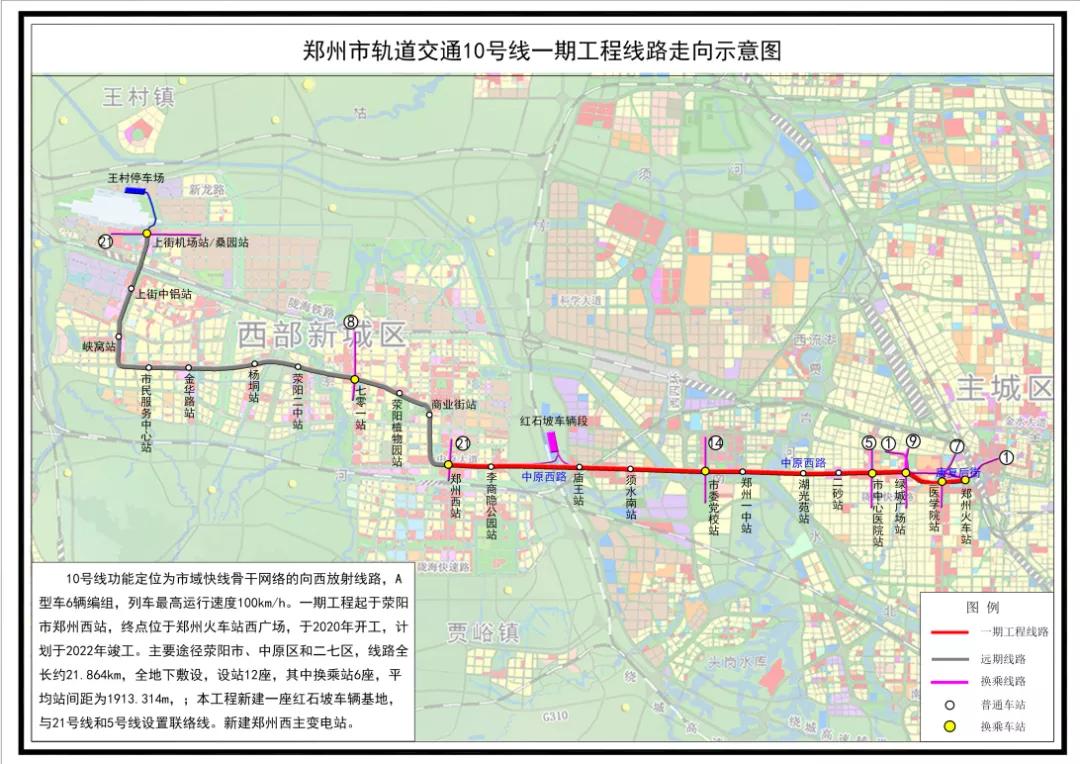 郑州地铁10号线二期!上街地铁最新进度来了