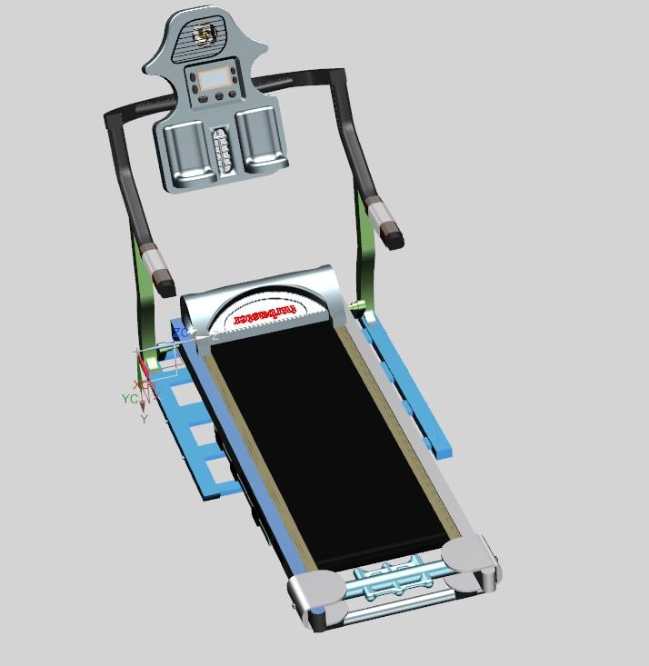 treadmill跑步机简易造型3D图纸 UG设计