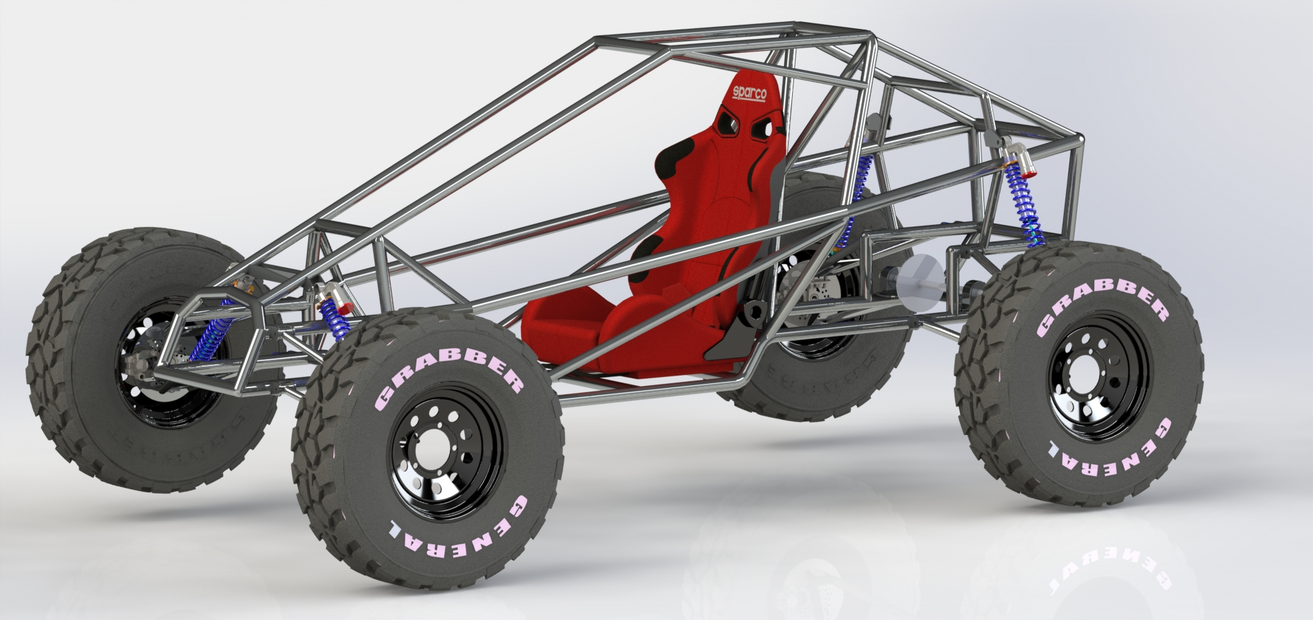 KARTCROSS钢管车架模型3D图纸 STEP格式