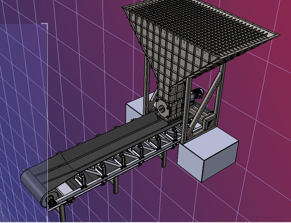 谷物旋转给料机3D数模图纸 STEP格式