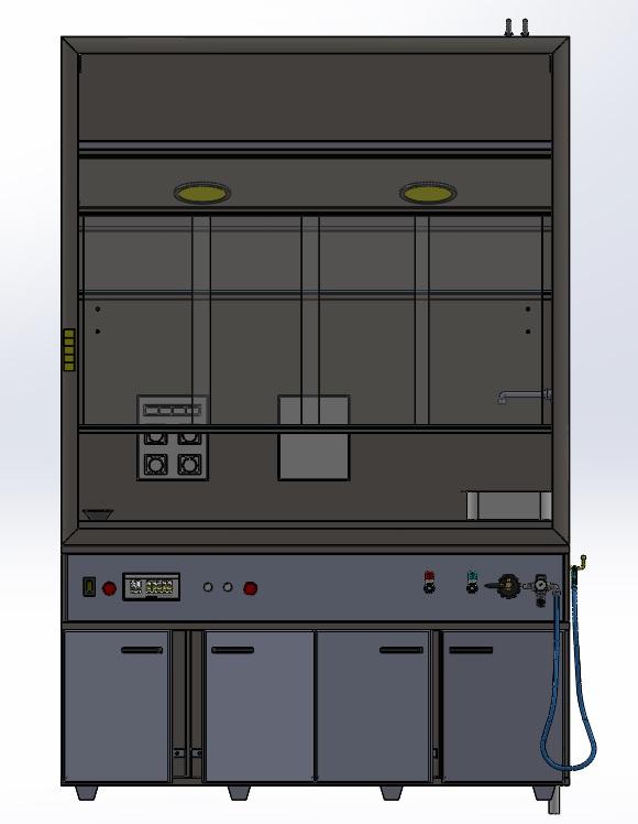 气体和粉末提取设备3D图纸 Solidworks设计 附IGS