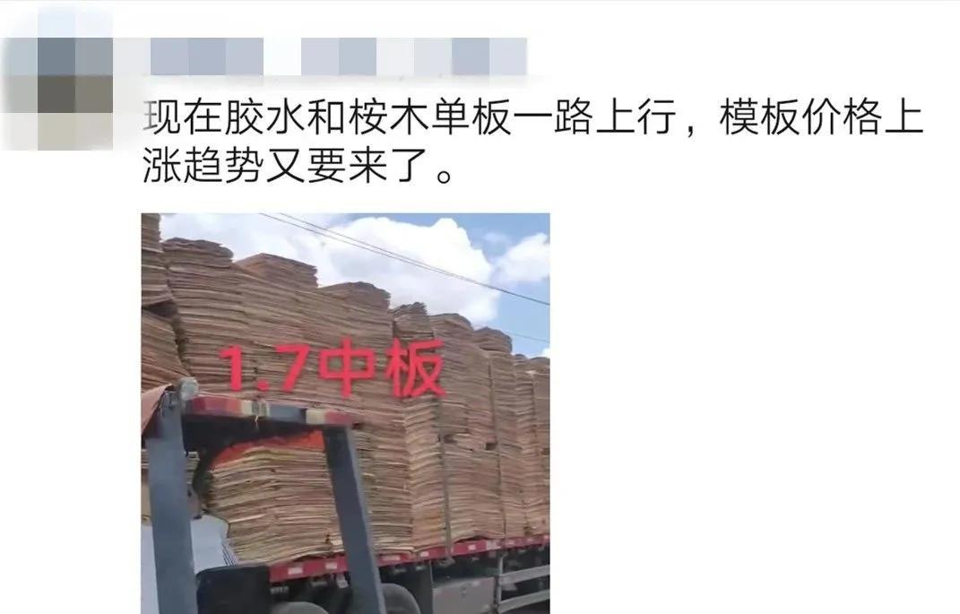 建筑模板成本持续居高不下,木材板材人表示进退两难