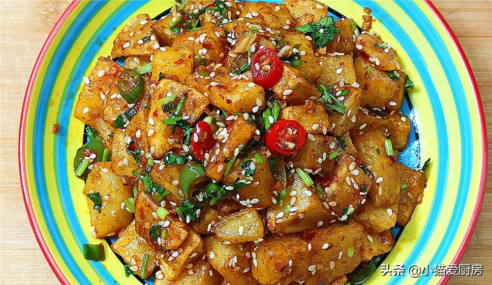 【酸辣土豆】做法步骤图 外酥里软 开胃下饭超好吃