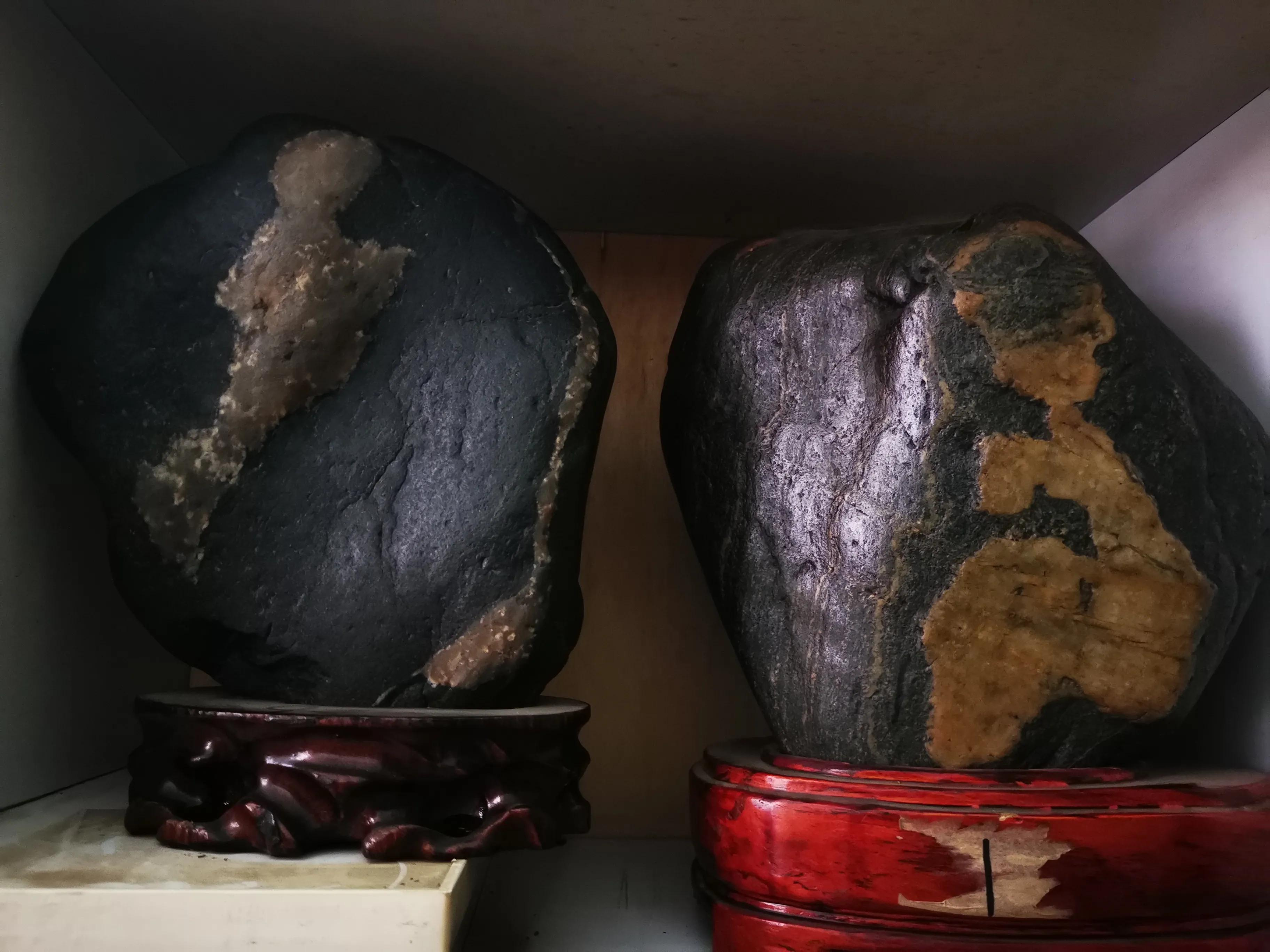 中华网生活频道副总监广龙参观凌振奇奇石艺术馆