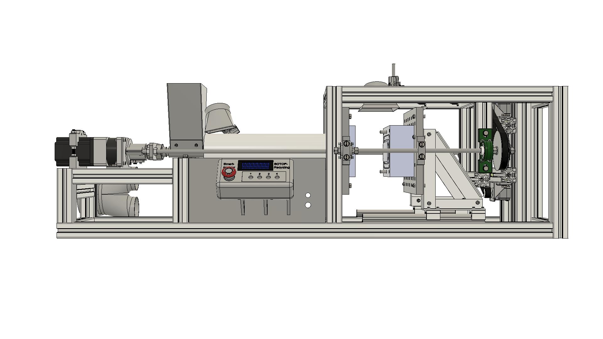 塑料回收注射成型机3D数模图纸 STEP格式