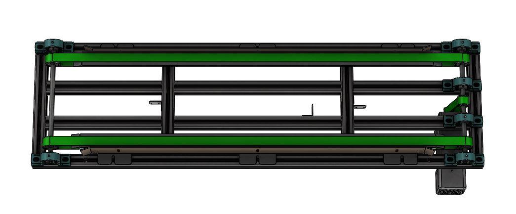 侧带式水平输送带3D数模图纸 x_t格式