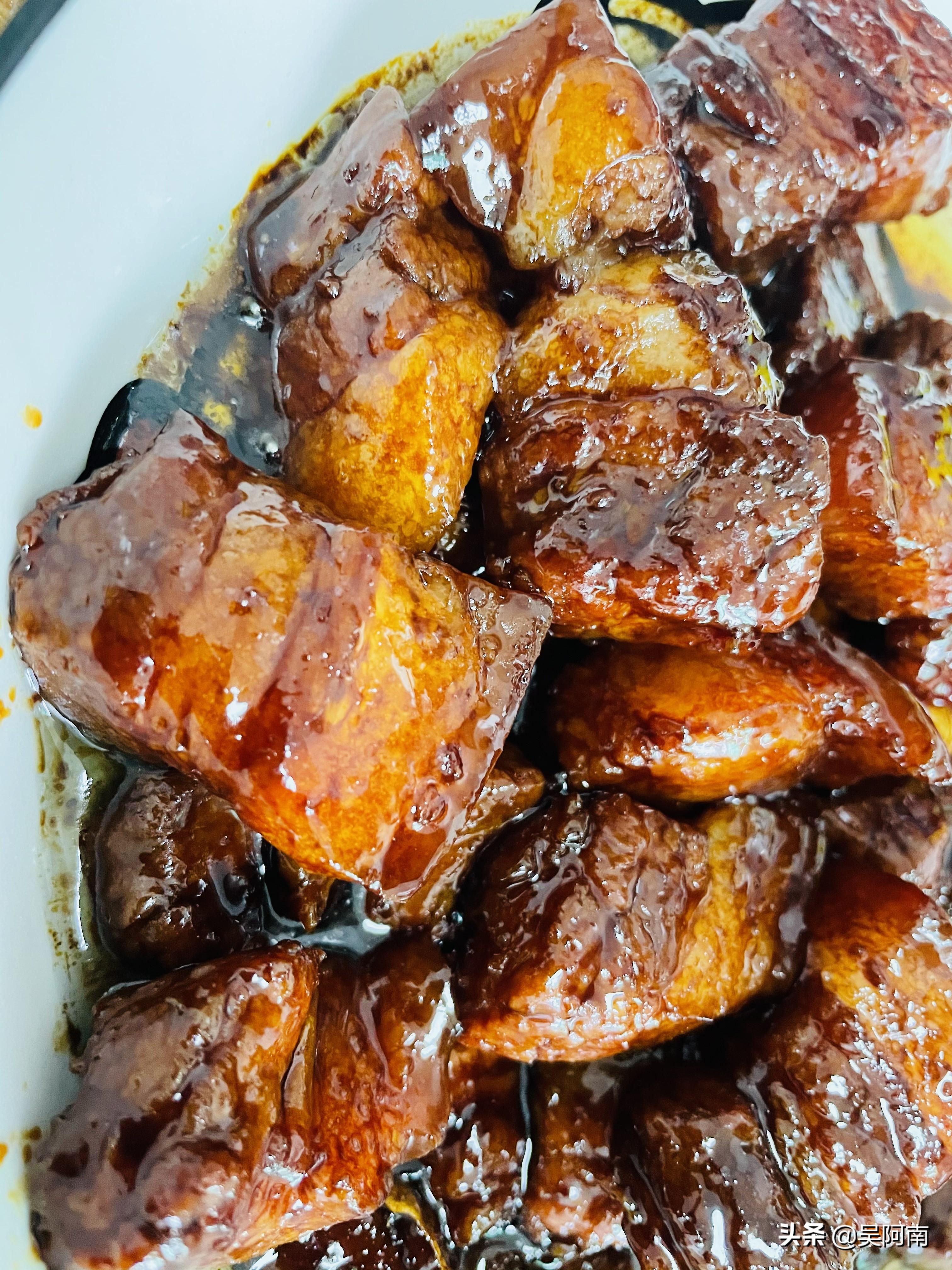 红烧肉入口即化,番茄汤酸爽可口,3荤1素的晚餐,备受老婆好评 美食做法 第9张