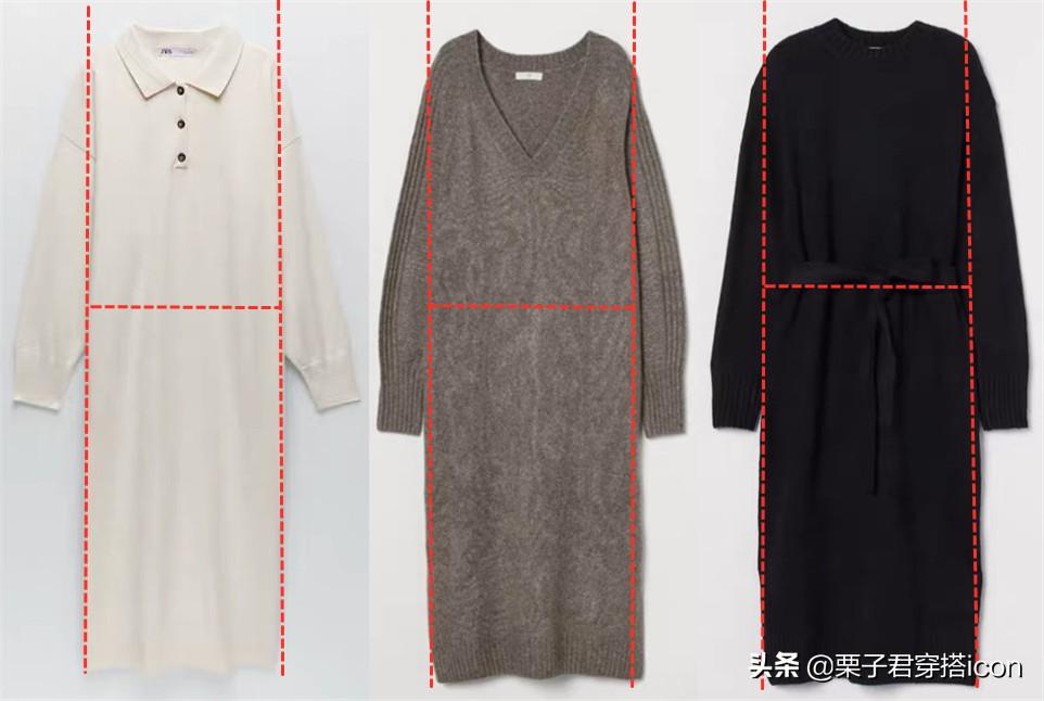 针织连衣裙是瘦子的专利?挑对款式巧用吸睛点,秒变T台在逃美人