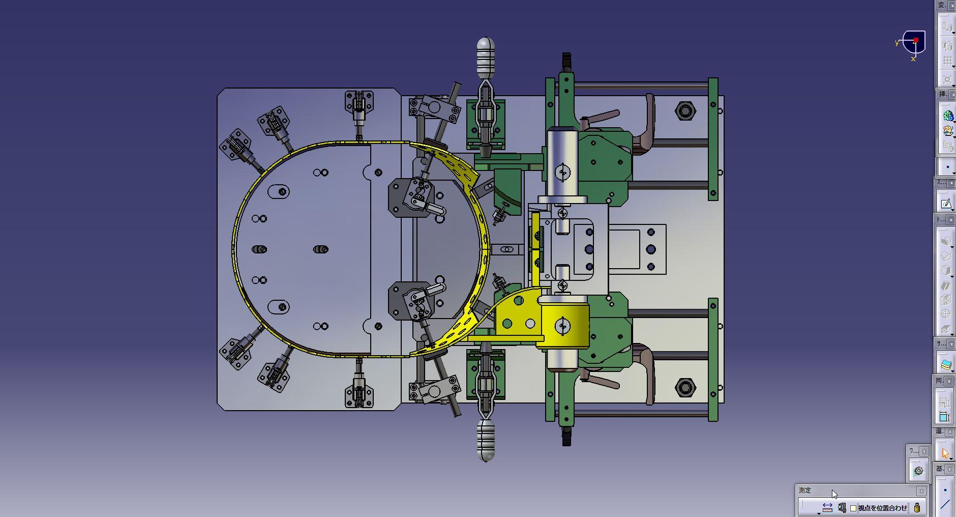 钢包芯焊接夹具3D图纸 CATIA设计 附STP