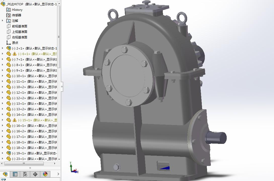 wormgear蜗轮蜗杆减速器3D图纸 Solidworks设计 附STP