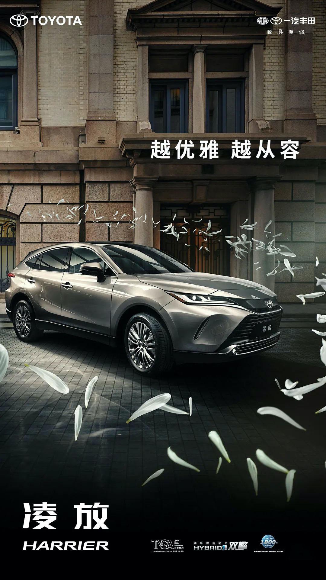 中文名定为凌放,一汽丰田HARRIER首张官图发布