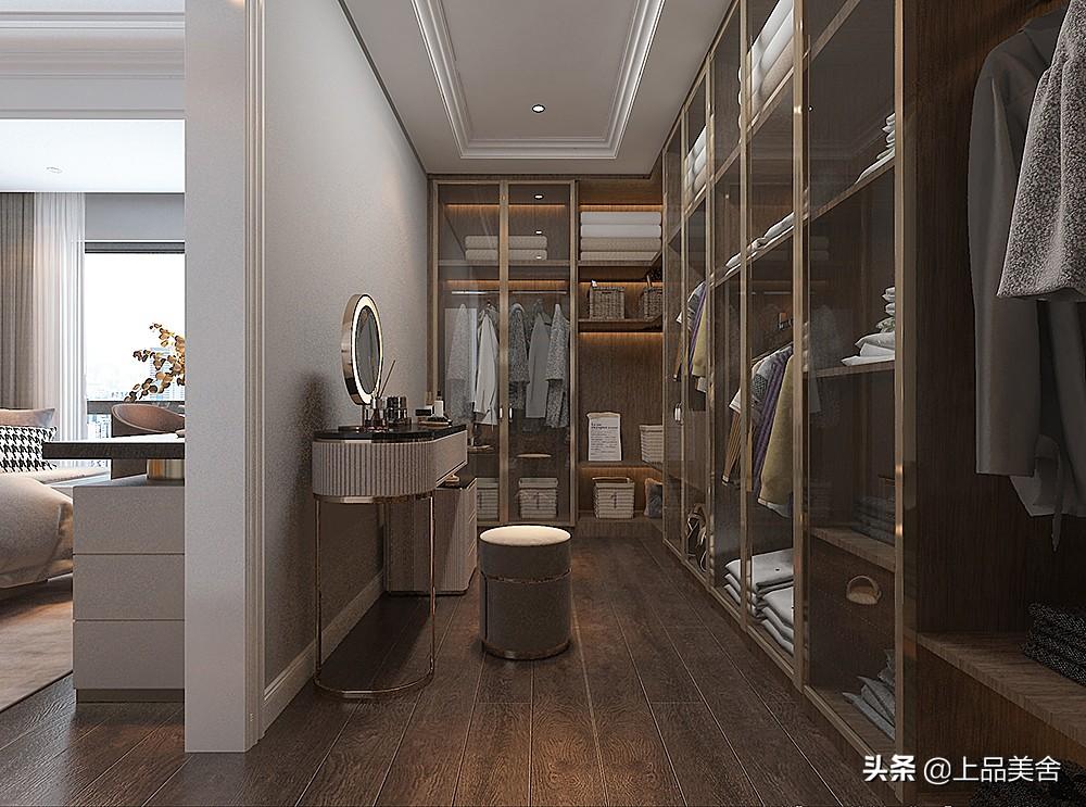 170平米美式轻奢风格,客厅配上爱马仕橙的家具,瞬间提升层次感
