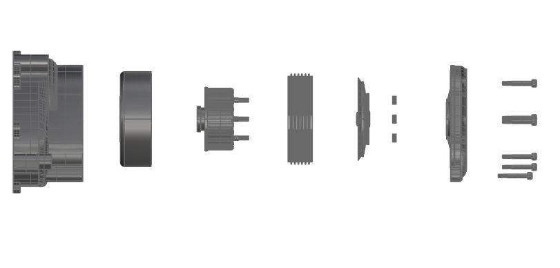 50CC赛车发动机爆炸模型造型3D图纸 RHINO设计 附STP