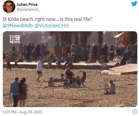 疫情刚好点就出来作妖?墨尔本知名海滩涌进上千人