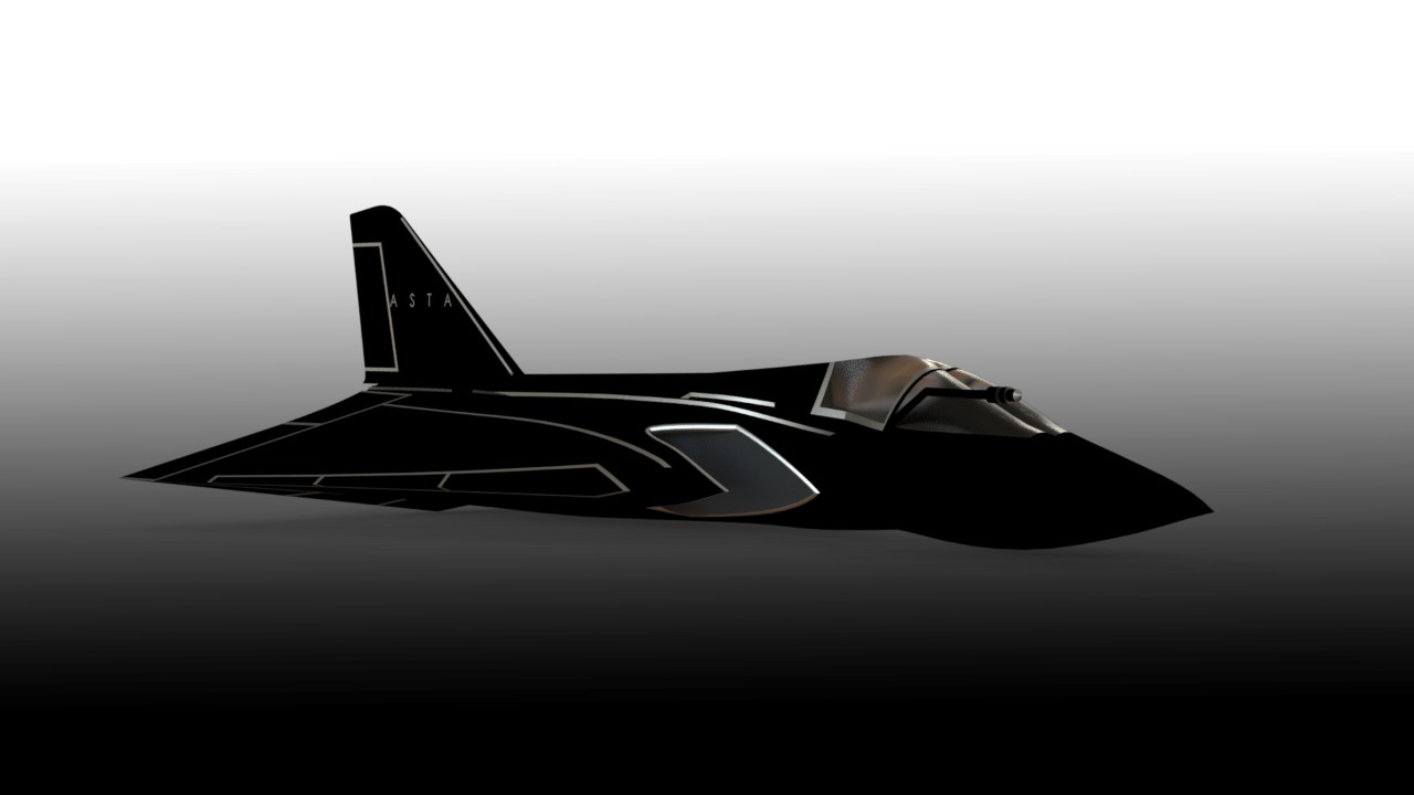ASTHA1飞机模型3D图纸 Solidworks设计