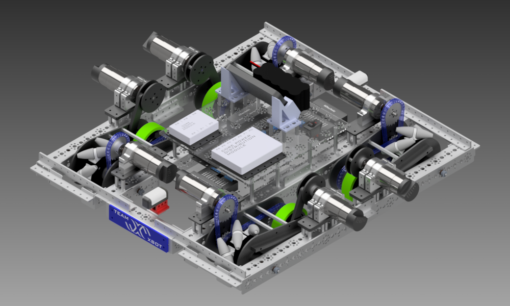 Octocanum drive麦克纳姆轮机器人车底盘3D数模图纸 STEP格式