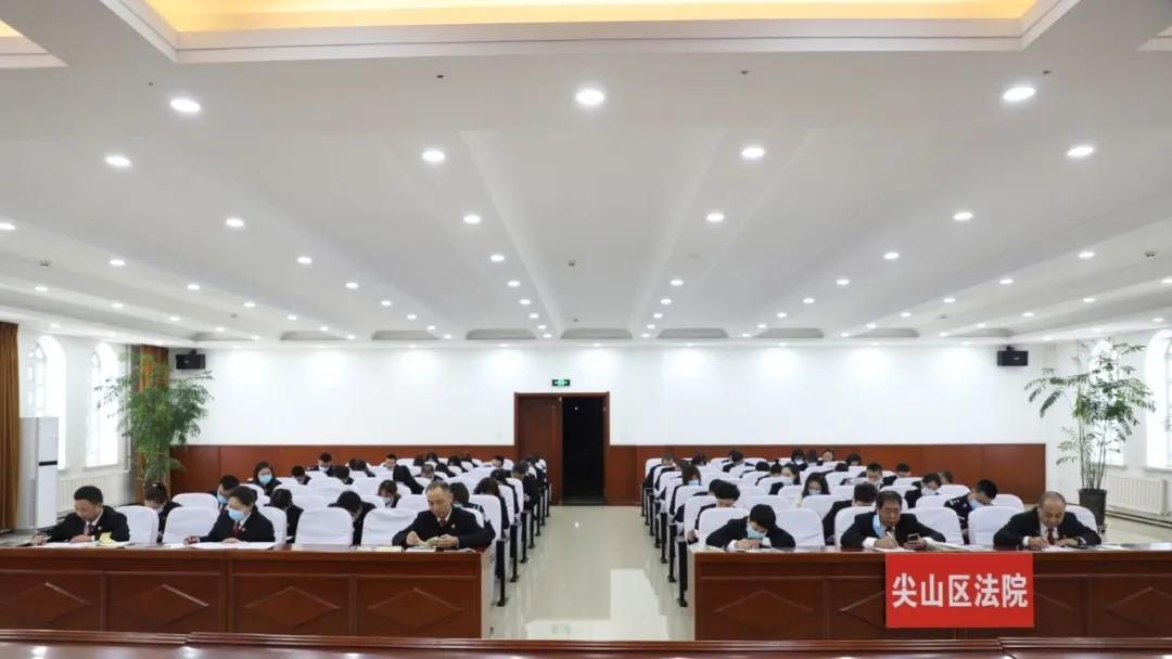 【教育整顿】尖山法院举办队伍教育整顿应知应会测试