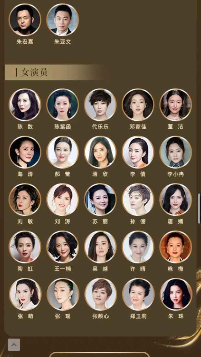 中国电视好演员入围名单公布!太注重细节划分了