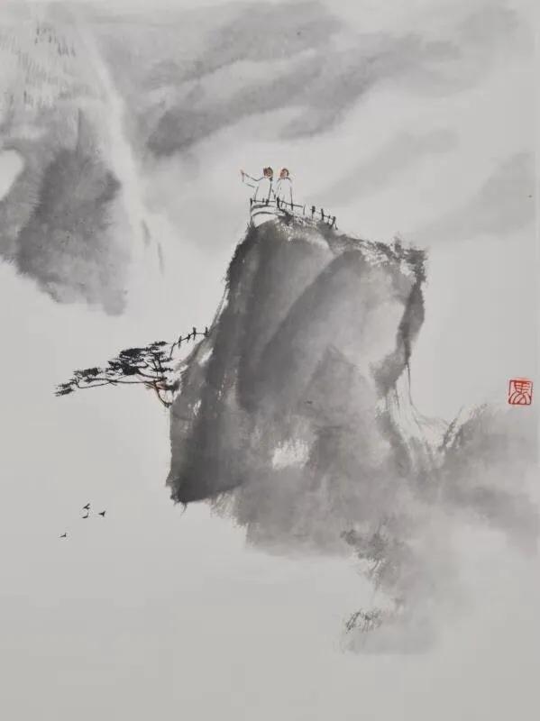 轻点彩墨    情趣丛生——著名画家马新辉花鸟山水雅赏