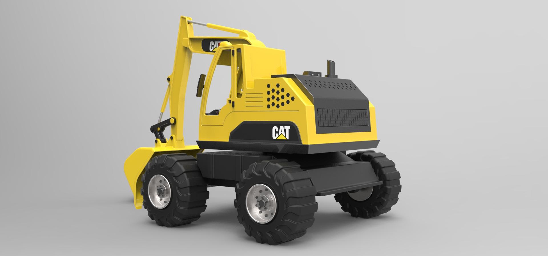 BAGER玩具挖掘机模型3D图纸 CATIA设计 附STP