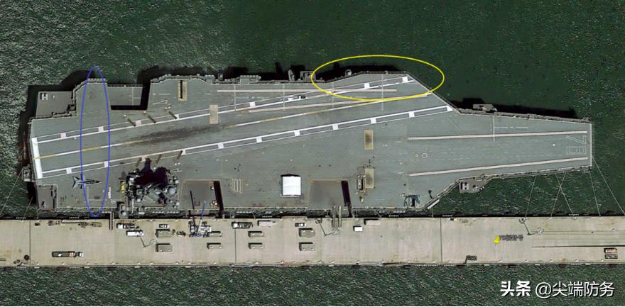 基本上可以确定003航母飞行甲板的宽度将超过美国福特级