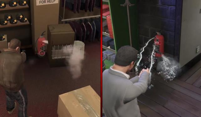 "How big is the gap between the details of ""GTA5"" and ""GTA4"", five years of advancement"